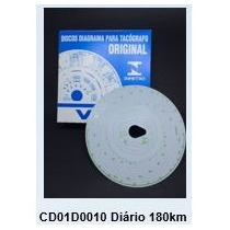 Disco Diagrama Tacógrafo Diário 180km Cx C/ 100 Discos