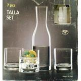 Set Whisky De Cristal Bohemia, Jarra Y 6 Vasos.devoto Envios