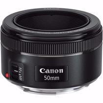 Lente Canon Ef 50mm 1.8 Stm Auto Foco Nova Cinquentinha + Nf