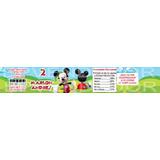 Imagen De Etiqueta Para Compotas Pequeñas Mickey Mouse