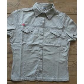 Camisa De Gabardina Tipo Jean