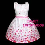Vestido Infantil Importado Rosa Poá 2 - 3 Anos