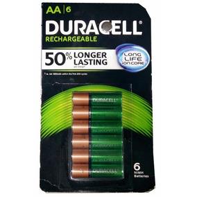 6 Baterias Recargables Aa Duracell Pilas 2500mah Nimh Envio