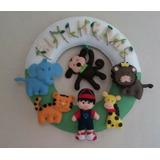 Guirlanda Decorativa Quarto Infantil Tema Safari Com Nome