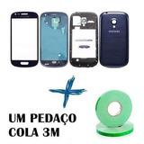 Carcaça Completa + Vidro Frontal Galaxy S3 Mini I8190