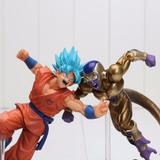Pareja Figuras Goku Dios Vs Golden Freezer Dragon Ball Super