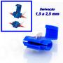 Conector Derivação Azul Emenda Cabos Fios 1,5 A 2,5mm 50un