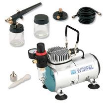 Compressor Wimpel Comp1 Compacto + Kit Aerógrafo Mp-1000