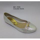 Baletas Plateada Calzado Suave Zapato Fino Mujer Envío Grati