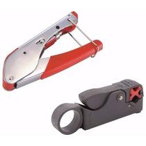 Kit Alicate Compressão + Decapador Crimpar Coaxial Rg6 Rg59