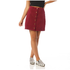 Saia Jeans Feminina A Colorida Sobreposto-sp7037
