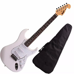 Guitarra Mod Fender Tagima Memphis Mg32 Cor Branca + Capa