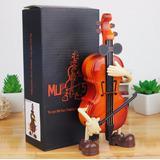 Violino Miniatura Musical Mini Caixinha De Musica Toca Danca