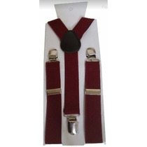 Kit Suspensório+gravata Borboleta Marsala Adulto E Infantil.