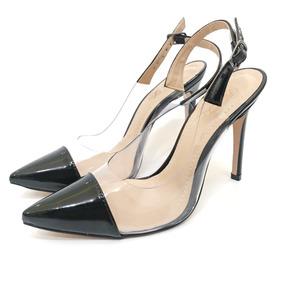 27b0a254b Sapato Scarpin Bico Fino Vinil Oncinha Animal Print Prata Feminino ...