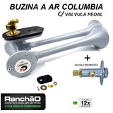 Buzina Ar Caminhão 2 Cornetas Columbia + Valvula Pedal 12x