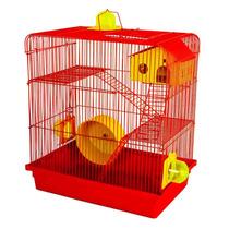 Gaiola Hamster 3 Andares Vermelha Russo Chinês Sírio Oferta