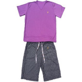 Pijama Gallineto Soler Colombia - Morado/azul
