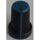 Knob / Botão Plástico Para Mesa De Som - Azul - Wattsom