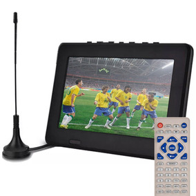 Tv Digital Portátil 7 Poleg Usb Antena Controle Remoto E149
