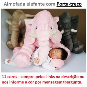 Almofada Elefante 65 Cm Com Porta-treco