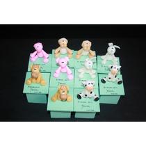 20 Souvenir-cajta Animalitos De La Granja En Porcelana Frìa!