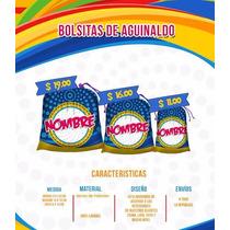 Bolsita De Aguinaldo Personliazada Ch, Dulcero Fiesta Piñata