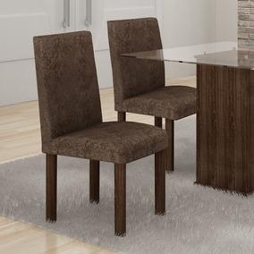 Conjunto De 2 Cadeiras Avalon Cappuccino - Cel Móveis
