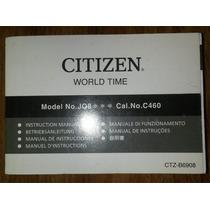 Manual Relogio Masculino Citizen Jq8xxx Cal. C460 Wingman