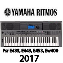 Ritmos Sty 2017 P Tecados Yamaha Psr E433, E443, E453, Ew400