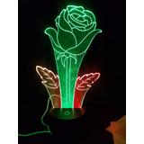 Lamparas 3d, Led Rosas - Flores