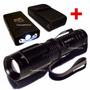 Lanterna Policial Led T6 Melhor Que X900 + Arma Choque Taser