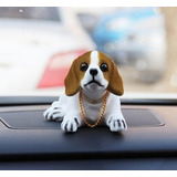 Sacudida De Cabeza Lucky Dog Beagle, Blanco ( | Vehículos