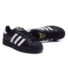zapatillas adidas superstar negras niño