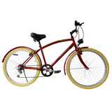 Bicicleta Retro Urbana R26 Caballero Lampara Led De Regalo