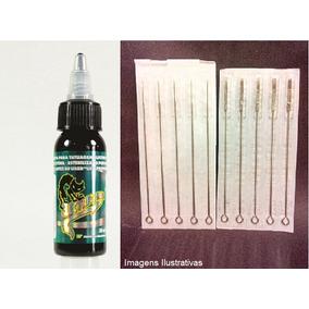 01 Tinta Electric Ink 30ml + 03 Agulhas E Biqueiras Tatuagem