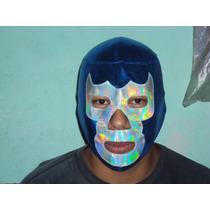 Wwe, Cmll, Aaa Mascara De Luchador Blue Demon Jr P/adulto