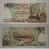 50 Pesos Argentinos Reposicion Lopez / García Vazquez B2620