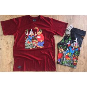 Bermuda Dagua + Camiseta Camisa Leva Um Brinde Carteira