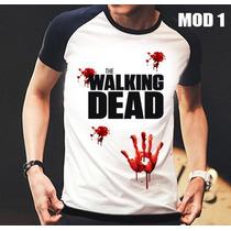Camisa/camiseta Raglan The Walking Dead Zumbi,rick,daryl