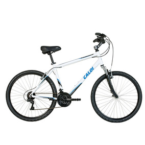 Bicicleta Aro 26 Caloi Quadro 19 Alumínio 21 Marchas Branca