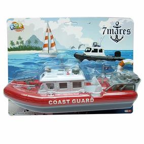Barco Bote Guarda Costeira A Pilha Flutua Na Àgua Brinquedo