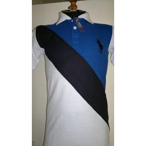 Camisa Playera Tipo Polo Armani Exchange Blanco-negro-azul.