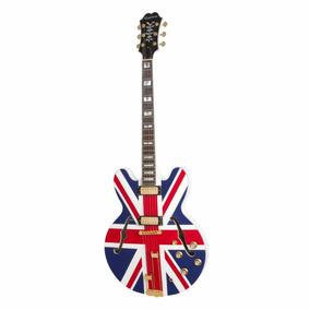Guitarra Epiphone Semi Acústica Sheraton Union Jack Alpine