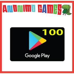 Google Play Tarjeta Prepaga Valor 100 Usd / Usa