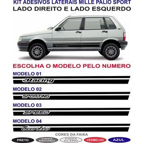 Adesivos Fiat Uno Mille Way Economy 2 E 4 Portas Kit Lateral