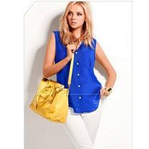 Blusa Blusas Dama Azul Sin Mangas Casual Elegante Fresca