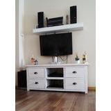 Mueble De Tv Rustico En Madera Recuperada Maciza