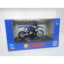 Miniatura Moto Cross Trilha Yamaha Yz 125 Na Caixa 5 Cm