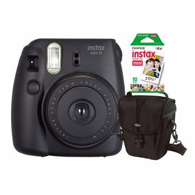 Câmera Fujifilm Instax Mini 8 Preta C/ Estojo C/ 10 Fotos